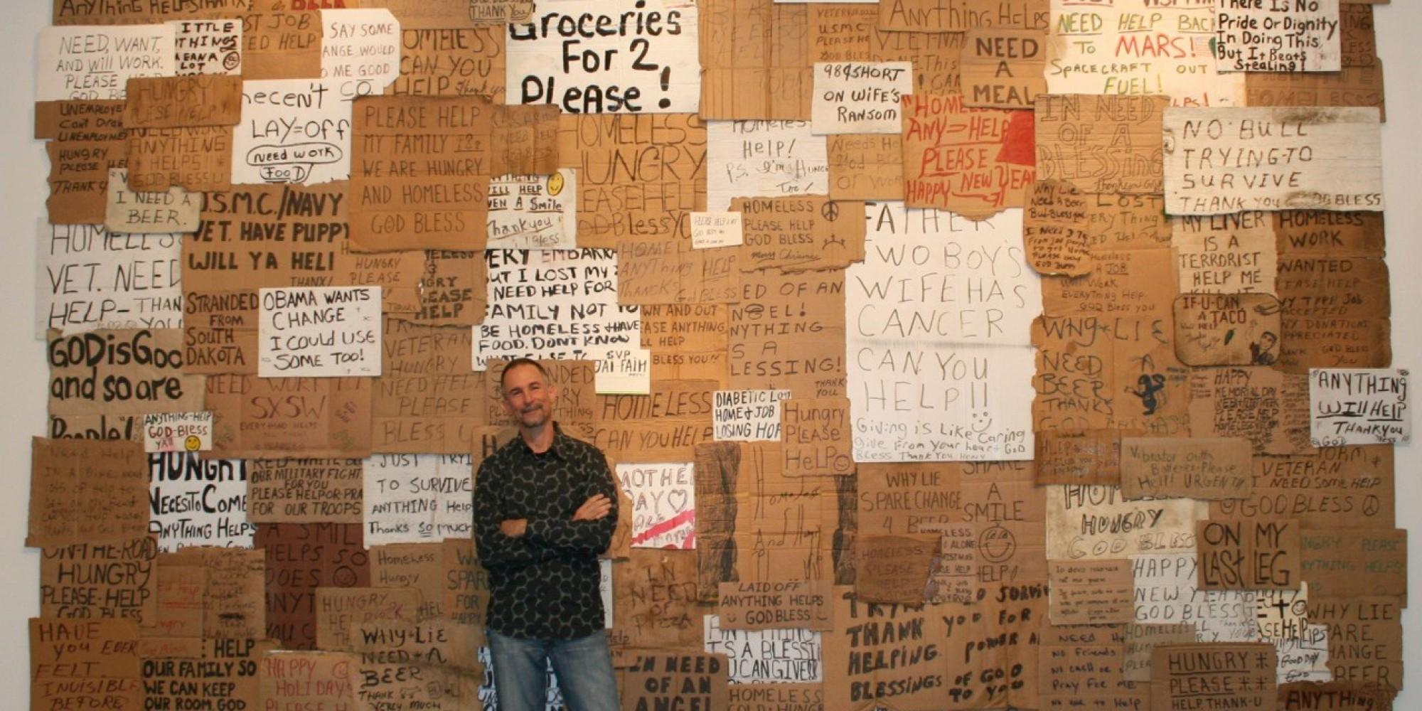 this artist has spent  7 000 on homeless people u0026 39 s