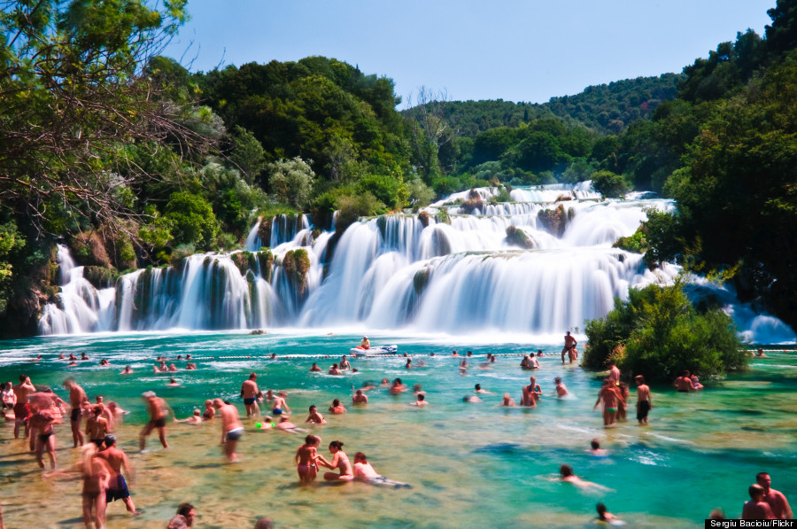 This croatian waterfall makes us want to go on vacation for Places to swim in paris