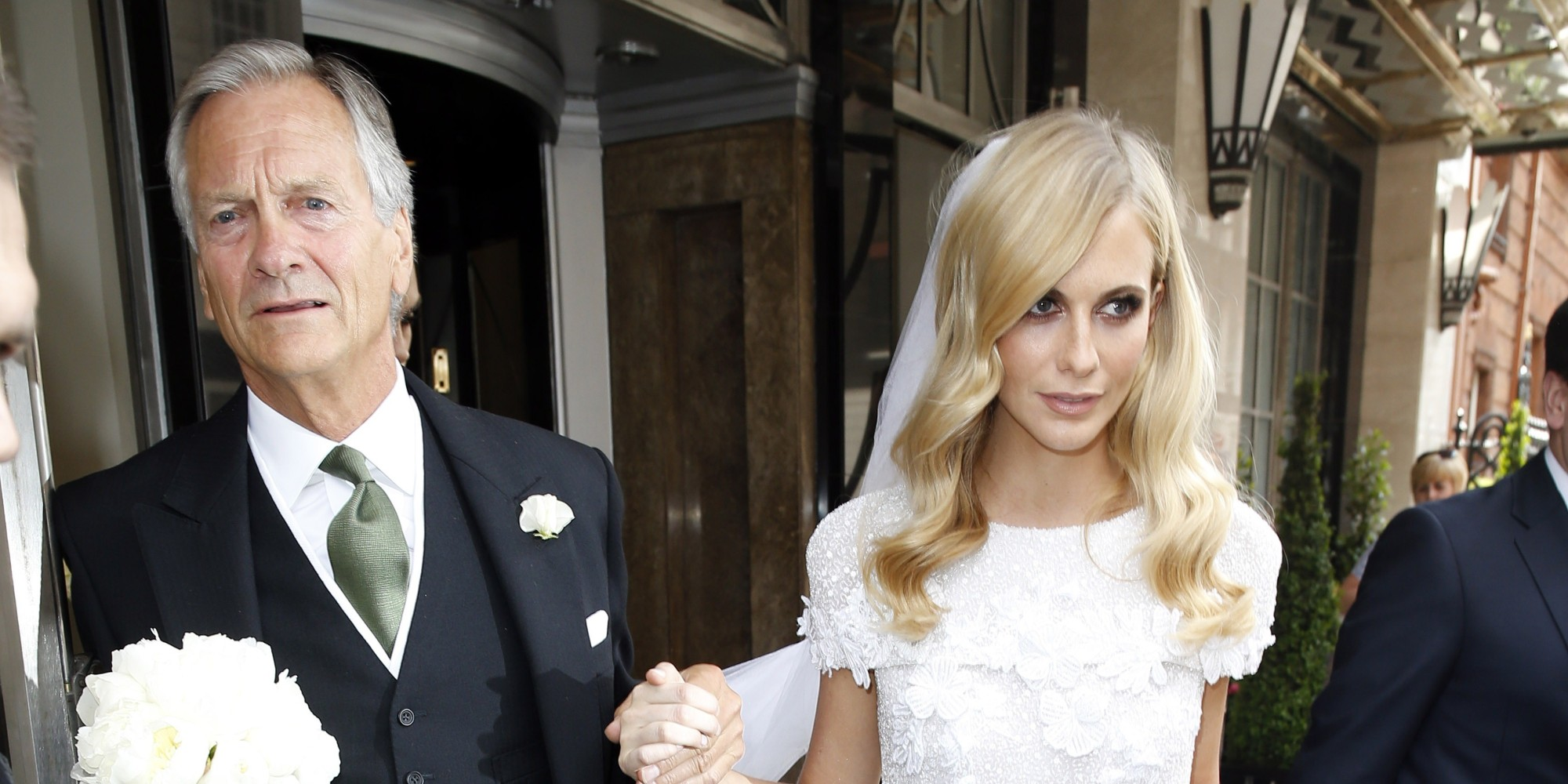 The dress is chanel - Poppy Delevingne S Wedding Dress Is Chanel Couture Bridal Perfection Huffpost