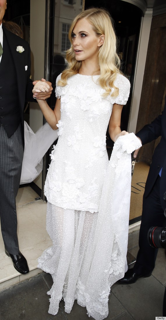Poppy delevingnes wedding dress is chanel couture bridal perfection poppy junglespirit Choice Image