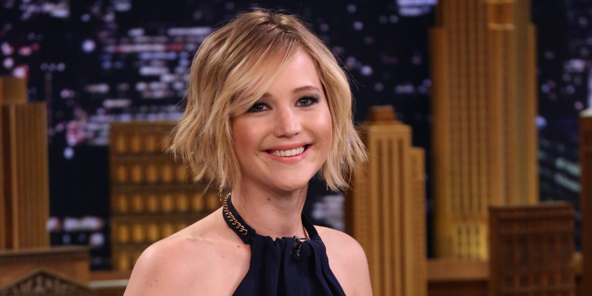 Cool Jennifer Lawrence39S Hair Is All A Lie Sort Of The Huffington Post Short Hairstyles Gunalazisus
