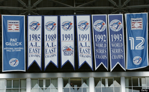 world series banners toronto