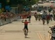 Cyclist Falls Behind After Celebrating With 1 More Lap To Go (VIDEO)