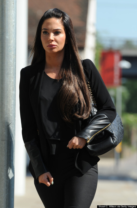 Tulisa And Her New Face Arrive At Court To Face Assault