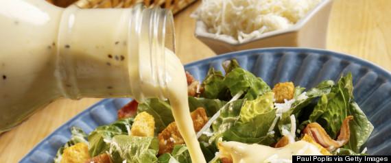 pour salad dressing