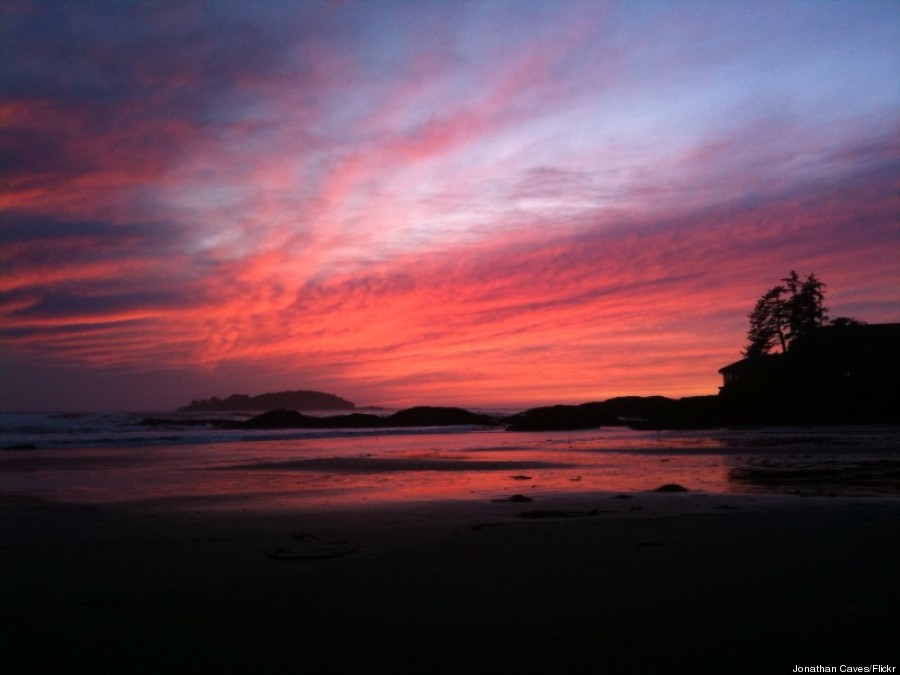chesterman beach sunset