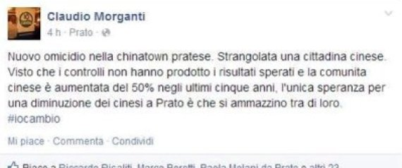 morganti facebook cinesi