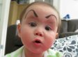 'Baby Eyebrows' Trend Is The Most Fun You Can Have With An Infant And A Marker