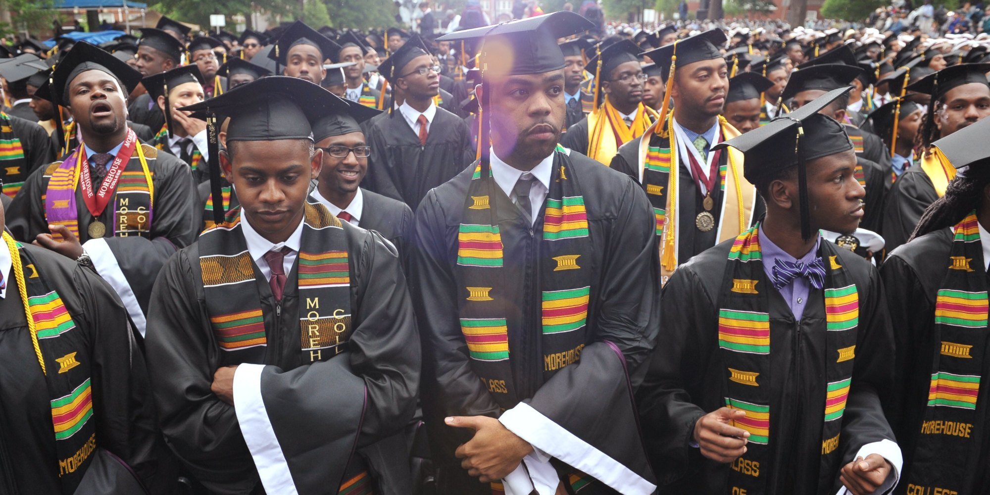 Why are less men graduating college?