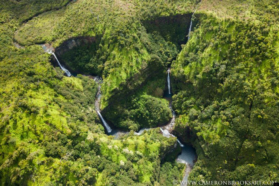 gulch waterfalls - The Garden Island