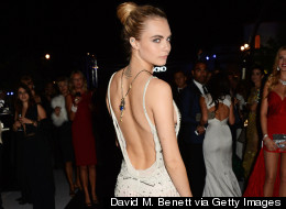 PICS: Cara Dazzles In White At Cannes