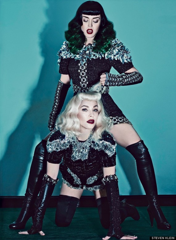 katy perry madonna do the whole bondage themed thing. Black Bedroom Furniture Sets. Home Design Ideas