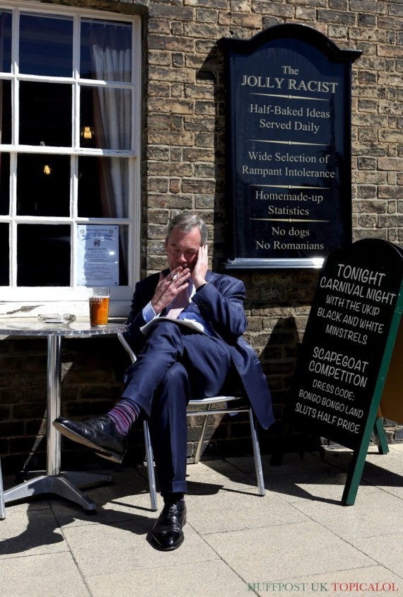 nigel farage pub spoof