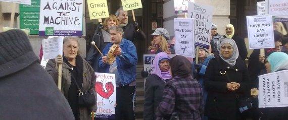 older people protesting