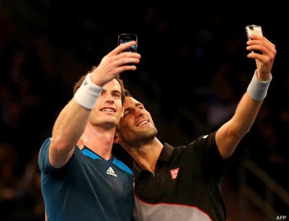 djokovic murray selfie