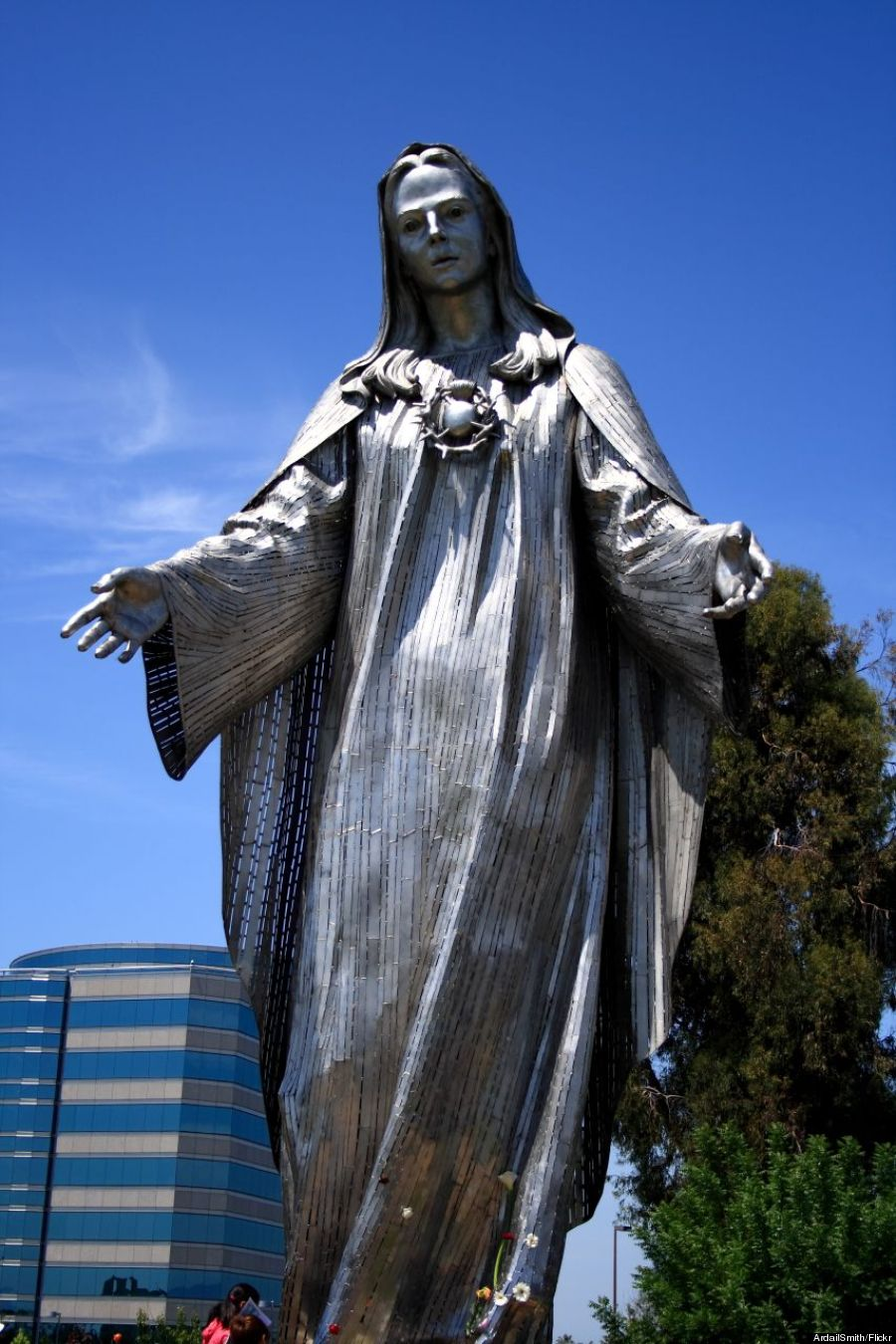 steel mary statue