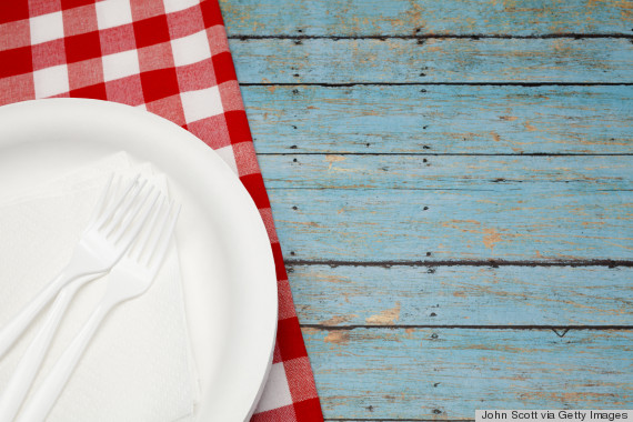 paper plate picnic