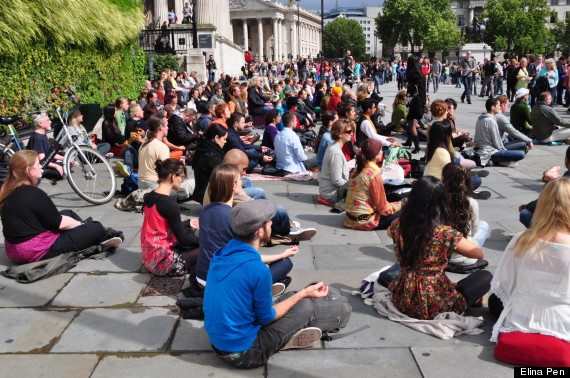 meditation flashmob