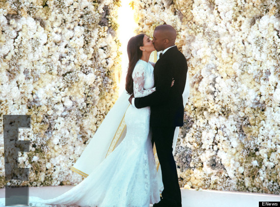 kim kardashian kanye west wedding photos