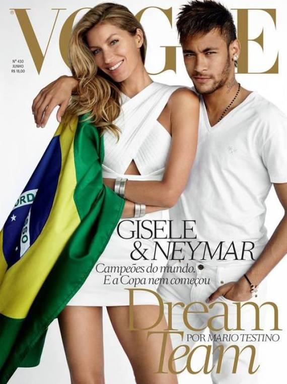 neymar and gisele b ndchen are the 39 dream team 39 for vogue. Black Bedroom Furniture Sets. Home Design Ideas