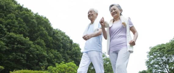 ELDERLY WALKING EXERCISE