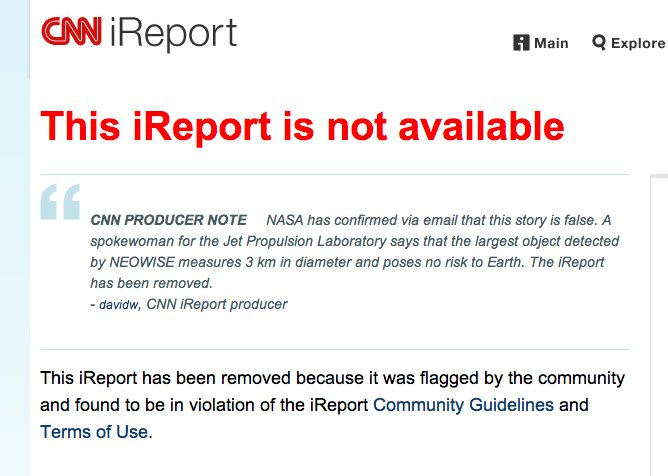 report gone