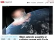 CNN Removes Post About Giant Asteroid Colliding With Earth