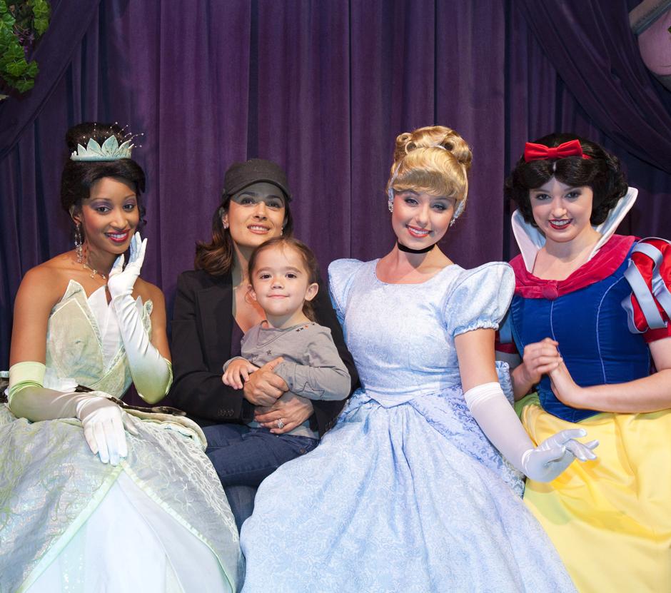 Salma Hayek & Daughter Valentina At Disneyland (PHOTO