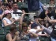 Fan Saves Baby From Flying Bat With Amazing Catch (VIDEO/GIF)