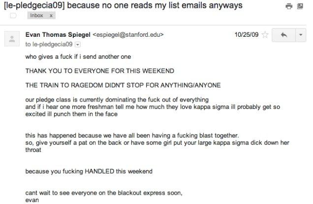 evan spiegel emails