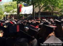 Harvard Students Stage Silent Sexual Assault Protest At Commencement (PHOTOS)
