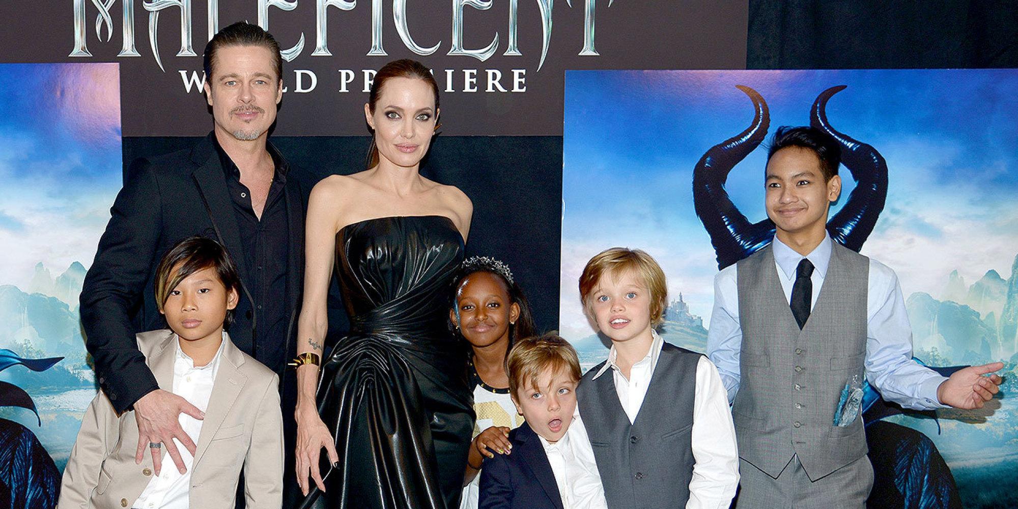 Brad Pitt And Angelina Jolie's Kids Walk The Red Carpet At ...  Brad Pitt And A...
