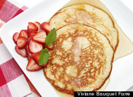 How To Make Lemon Souffle Pancakes With Strawberries
