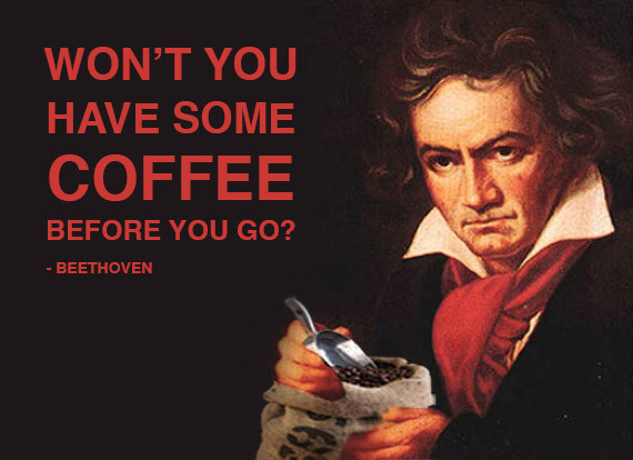 Image result for beethoven and coffee