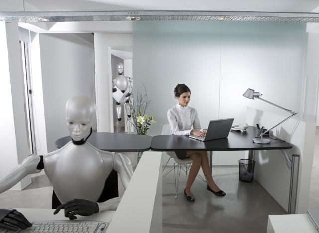 robots au travail le bureau du futur sera un open space rempli de robots et avatars