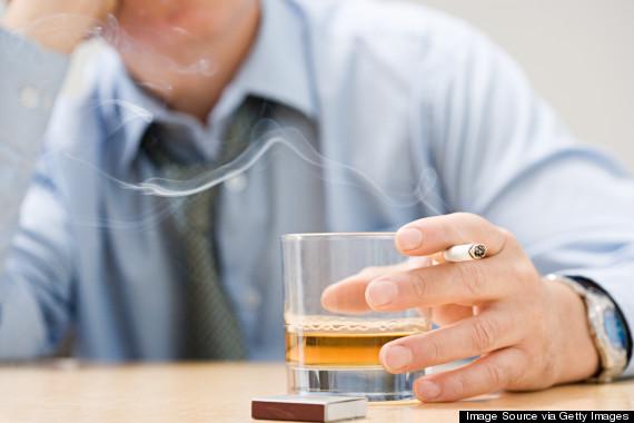 smoking alcohol