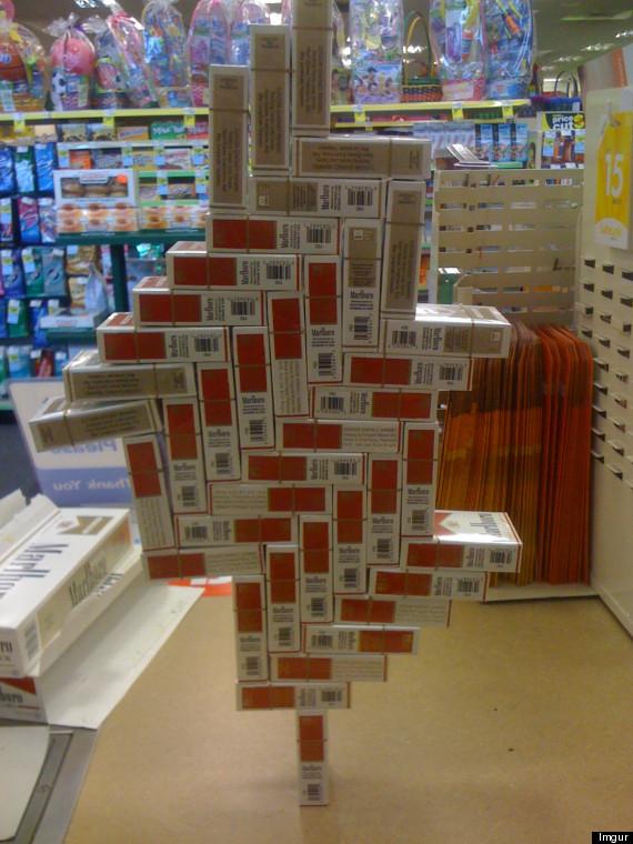 balanced cigarette boxes