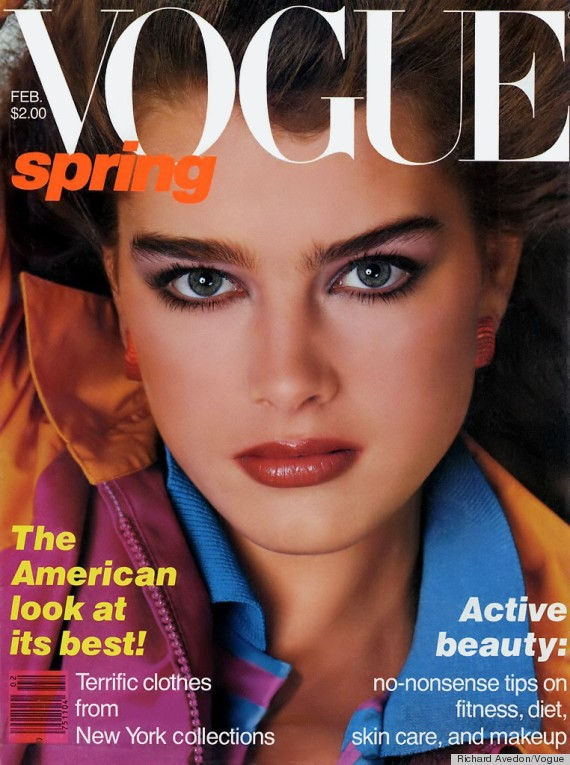 brooke shields february 1980 vogue cover