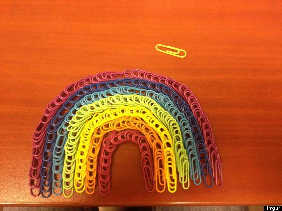 paper clip rainbow