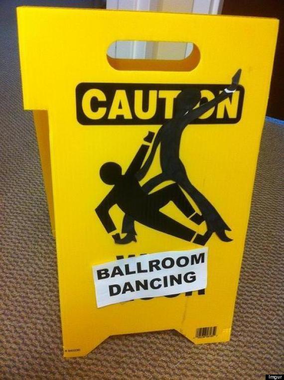 ballroom dancers sign