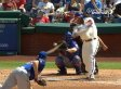 Marlon Byrd Swung So Hard His Bat Broke Without Touching The Ball (GIF)