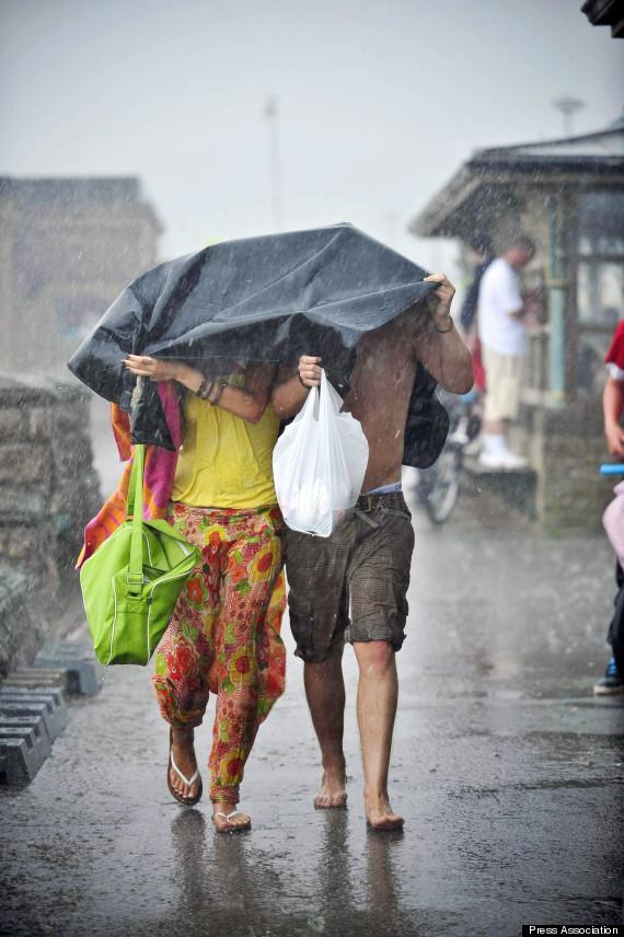 raining british weather