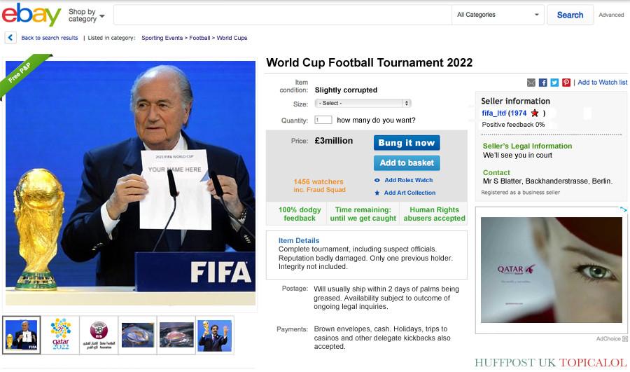 qatar ebay world cup spoof