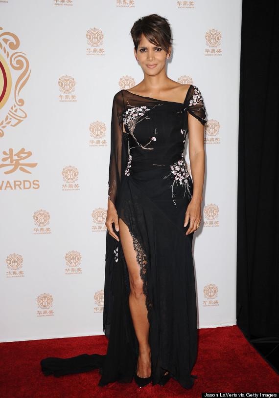 Halle Berry Rocks Throwback Dress But Still Looks Modern
