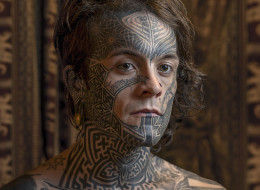 Striking Photos Of Inked Individuals Who Proudly Don Face Tattoos