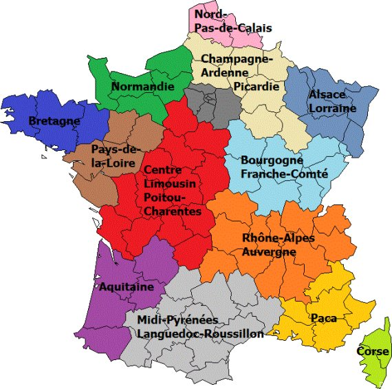 carte region selon hollande