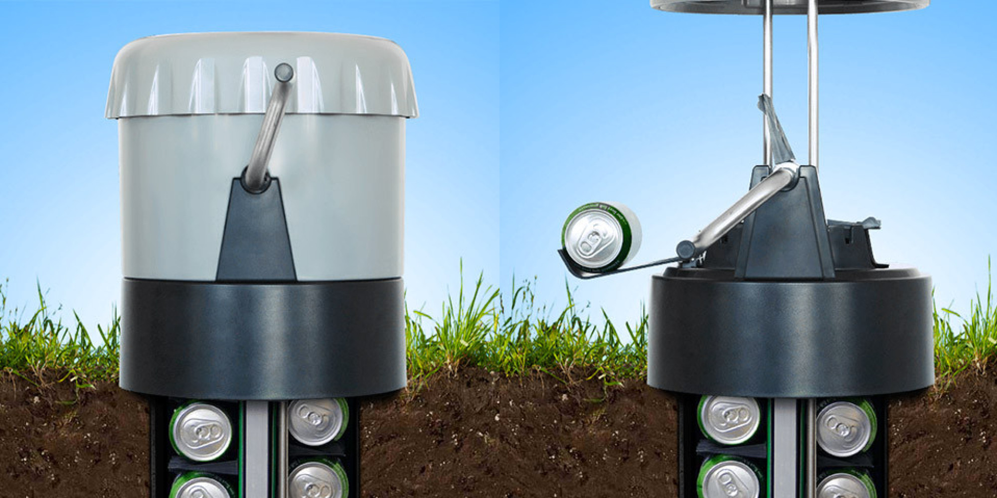 The ecool in ground beer cooler uses the earth as a cooler for Build your own walk in beer cooler