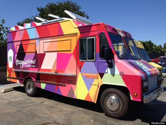 starbucks frappuccino truck