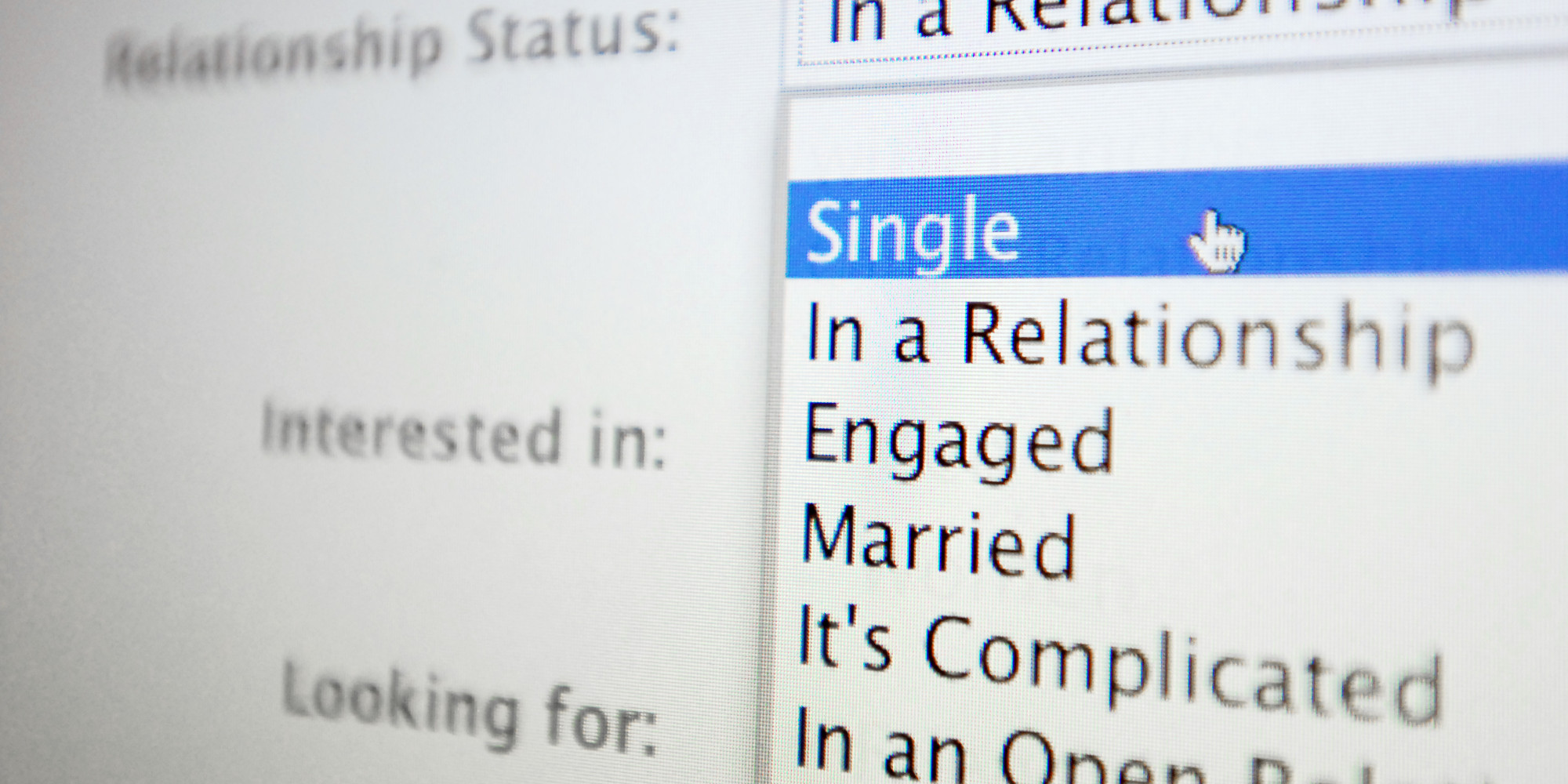 all relationship statuses for facebook