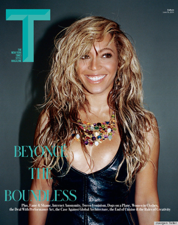 beyonce t magazine